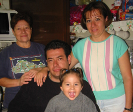Lupita, her daughter, Veronica and her son Jose. 